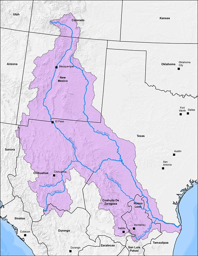 THE RIO GRANDE AN EAGLES VIEW Great River Campaign - Map of the rio grande river